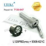 Kit di riparazione diesel di revisione di Erikc Inyector 7135-647 compreso l'ugello L120prd e valvola 9308-621c per l'iniettore Ejbr04001d e Ejbr01801A \ Ejbr01801z