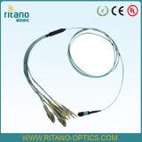 Кабель хобота волокна MPO-LC оптически собирая Patchcords