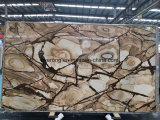 Het Beige/Gele Marmer Woodstone van de luxe voor de Tegel van de Bevloering & Plakken & Countertop