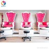STAZIONE TERMALE moderna bianca Pedicure del trono della regina del manicure del piede della mobilia del salone