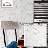 Mosaico de cristal Herringbone de la viruta de la talla 23X73m m de la exportación del mosaico blanco del azulejo en Shangai