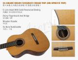 Guitarra clássica do vintage da classe elevada com Fretboard Elevated