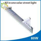 preço de fábrica!!80W/PI65,integrado tudo numa rua de LED Solar Luz!!corpo humano a indução de infravermelhos!!jardim exterior/parede/Pátio/caminho/auto-estrada/lâmpada de Relva