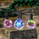G40銅線LEDのクリスマスストリングライト、E12球根の銅線が付いているLEDの花飾りストリングライト