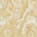 十分に磨かれた艶をかけられたタイルの大理石の見る新しい陶磁器の磨かれた床