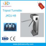 Halfautomatische Slimme Turnstile van de Driepoot 304 Roestvrije Steel1.2mm RFID
