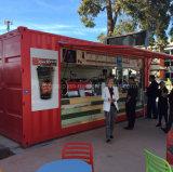 가벼운 강철 구조물 조립식 선적 컨테이너 집 이동할 수 있는 대중음식점 바 다방 다방 간이 건축물 콘테이너 집