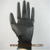 Gants noirs d'unité centrale d'unité centrale de gants enduits noirs de paume