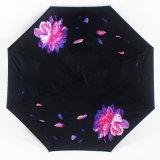 Parapluie promotionnel à l'envers renversé manuel de traitement de forme de C