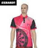 Chemise de polo faite sur commande de rose de cancer du sein de sports d'hommes de femmes de mode de coton de qualité