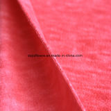 Paño grueso y suave micro del efecto de la impresión del catión, tela de la chaqueta (plum+off-white)