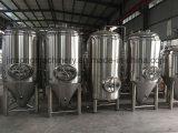 Depósito de fermentación inoxidable de la cerveza de la chaqueta de acero