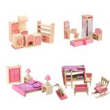 Mobiliário de Dollhouse definido incluindo banheiro Kid Quarto Dormitório cozinha para Dollhouse