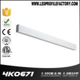 LED 알루미늄 단면도 선형 빛 LED 펀던트 전등 설비
