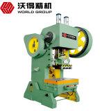 Imprensa de perfurador excêntrica pequena do tamanho J23 preço da potência mecânica da máquina do perfurador de 10 toneladas o melhor