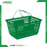 28L cesto de compras de supermercado verde