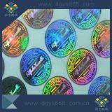 étiquette faite sur commande d'hologramme de laser de garantie de la qualité 3D