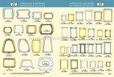 Inarcamento in lega di zinco del sacchetto dell'inarcamento della borsa di rettangolo di prezzi di fabbrica