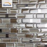 Mosaico di cristallo di vetro delle mattonelle di Mozaik della cucina opaca lucida della striscia del Brown
