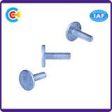 DIN/ANSI/BS/JIS Kohlenstoffstahl/aus rostfreiem Stahl nichtstandardisierter runder Kopf schraubt flache Plastikbefestigung-Schrauben