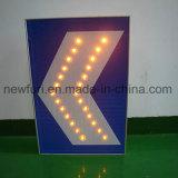 Segnale stradale solare dell'indicatore luminoso d'avvertimento di traffico delle frecce del segnale di girata del LED