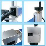 De Laser die van de vezel Machine om Plastiek van het Leer van de Strook van de Telefoon van de Druk Te graveren het Mobiele merkt