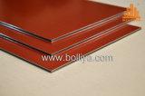 Substrat en aluminium de signe de qualité grande de délié balayé par balai argenté de miroir