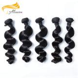 100% Alimina малайзийской ослабленных волос плетение Weft Wave Виргинских