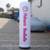 Serviço ODM OEM Pilar decorativas tubo inflável com navegação rápida