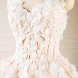 Champagne Tulle Flower Princess vestido de noiva Suite Bata