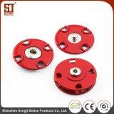 Botón individual del broche de presión del metal de Monocolor de la manera de Porfessional