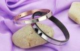 方法本当愛腕輪のカップルの恋人黒いIP/Roseの金張りのステンレス鋼のブレスレットの腕輪のバレンタインデーのギフト
