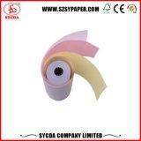 Papel 3-Ply de caja registradora del rodillo 63G del papel sin carbono