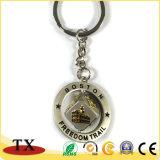 Liga Rotatable Keychain do zinco do metal do ouro