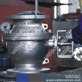 3PC Caja de engranajes con bridas de acero inoxidable Puerto completo de la válvula de bola fija (Q341F)