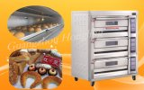 Großverkauf-Brot-Maschinerie-kommerzieller doppelter Tellersegment-Gas-Ofen für Backen