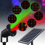 Lumière imperméable à l'eau de projecteur de laser de DEL de Noël de jardin extérieur solaire de lumière