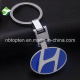 Trousseau de clés en métal de logo de véhicule de propriétaire avec la boucle principale en acier