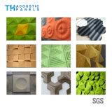 Panneau 3D insonorisant décoratif intérieur amical de fibre de polyester d'Eco pour le mur de fond