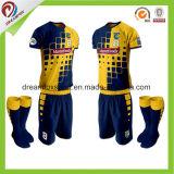 Projeto uniforme do futebol feito sob encomenda seco da camisola do futebol do Sublimation do ajuste