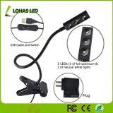 Carregamento USB 360 graus de cisne flexível 3W luz de crescimento vegetal
