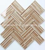 卸し売り印刷の木製の一見のガラスモザイク・タイル