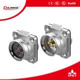 Suministro de fábrica de aleación de Zinc 4 Pin conector impermeable
