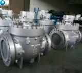 Bajo Par motor montado en el muñón de acero al carbono de la válvula de bola de entrada superior