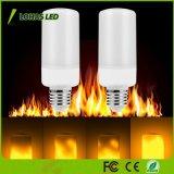 5W E12 E26 El parpadeo de luces decorativas de fuego 3 modos de LED lámpara de la llama creativa
