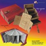 カスタム折りたたみ開いた様式の革収納箱(4949)