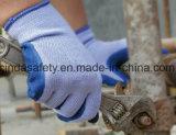 構築労働の保護乳液によって塗られる作業手袋