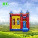 Venda a quente populares congelados Elsa castelo insuflável temático de diversões para crianças saltando Combo Sports