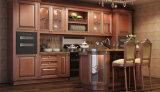 Rote Eichen-festes Holz-Küche-Schränke