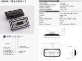 15p impermeabilizan el conectador IP67 de la taza D-SUB de la soldadura del montaje del panel
